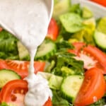 best blue cheese dressing as pinterest graphic