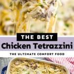 pinterest collage of chicken tetrazzini