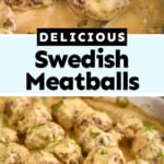 pinterest graphic of Swedish meatball photos