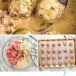 pinterest graphic of Swedish meatballs
