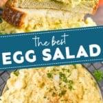pinterest graphic for egg salad