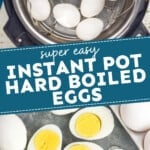 pinterest graphic for instant pot hard boiled eggs