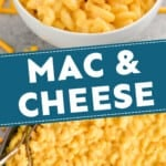 pinterest graphic of Mac and cheese