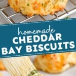 pinterest graphic of cheddar bay biscuits