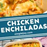 pinterest graphic of chicken enchiladas