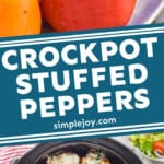 pinterest graphic of stuffed peppers