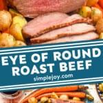 pinterest graphic of eye round roast