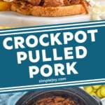pinterest graphic of bbq pulled pork