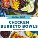 pinterest graphic for burrito bowls
