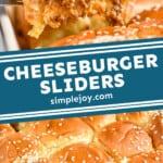 pinterest graphic for cheeseburger sliders