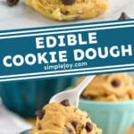 pinterest graphic of edible cookie dough
