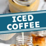 pinterest graphic of iced coffee