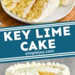 pinterest graphic of key lime cake