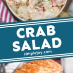pinterest graphic for crab salad