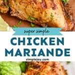 pinterest graphic of chicken marinade