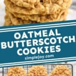 Pinterest graphic of oatmeal scotchies