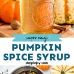 pinterest graphic of pumpkin spice syrup