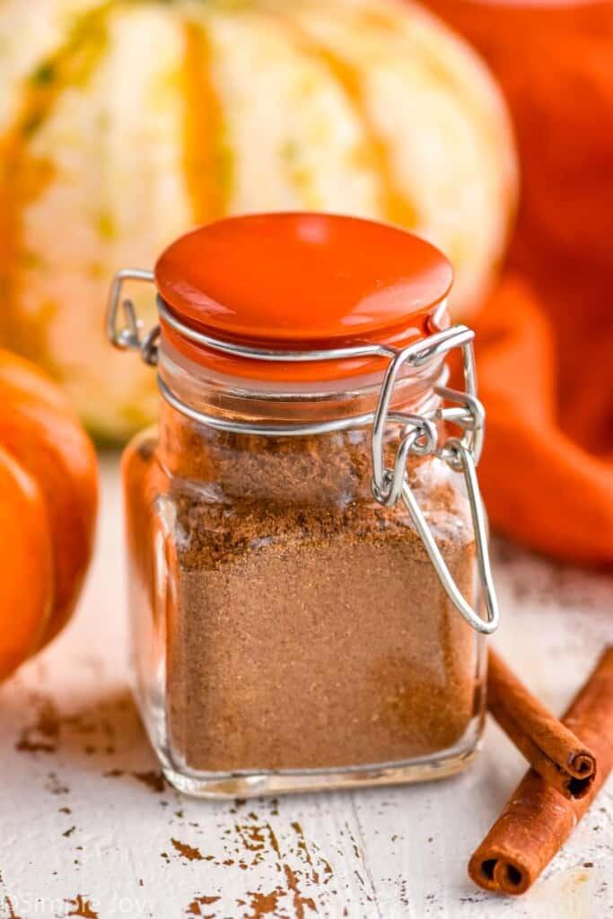a small bottle of pumpkin spice