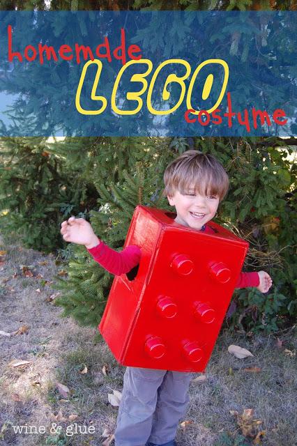 Easy Lego Halloween Costume For Kids Wine Glue