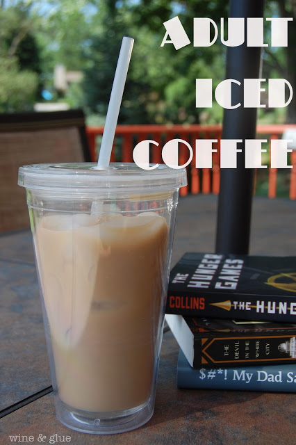 Adult Iced Coffee | Made with whipped cream flavored vodka is the perfect addition to your summer afternoon!