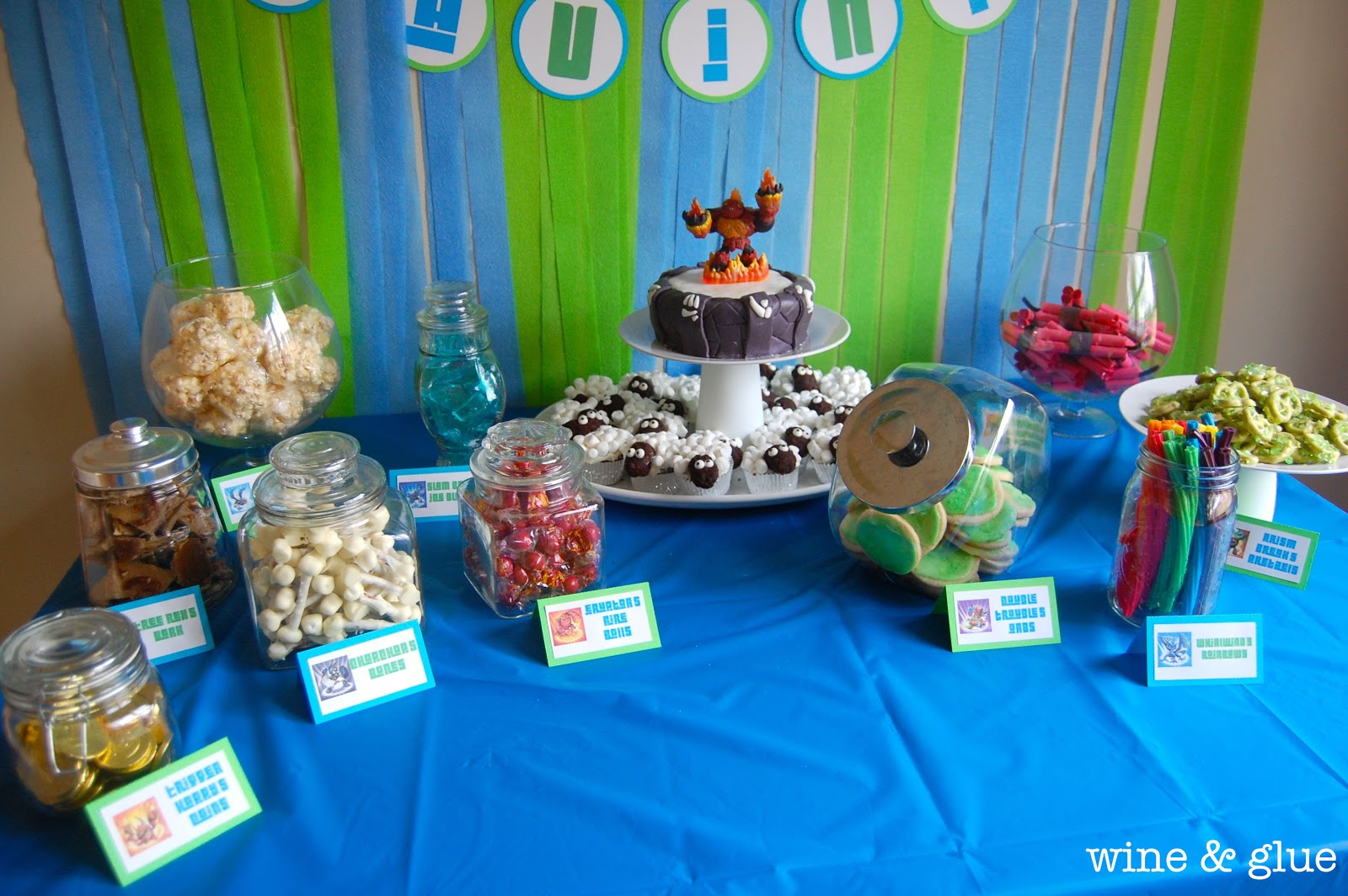 Miraculous Skylander Party Candy Table Wine Glue Interior Design Ideas Apansoteloinfo