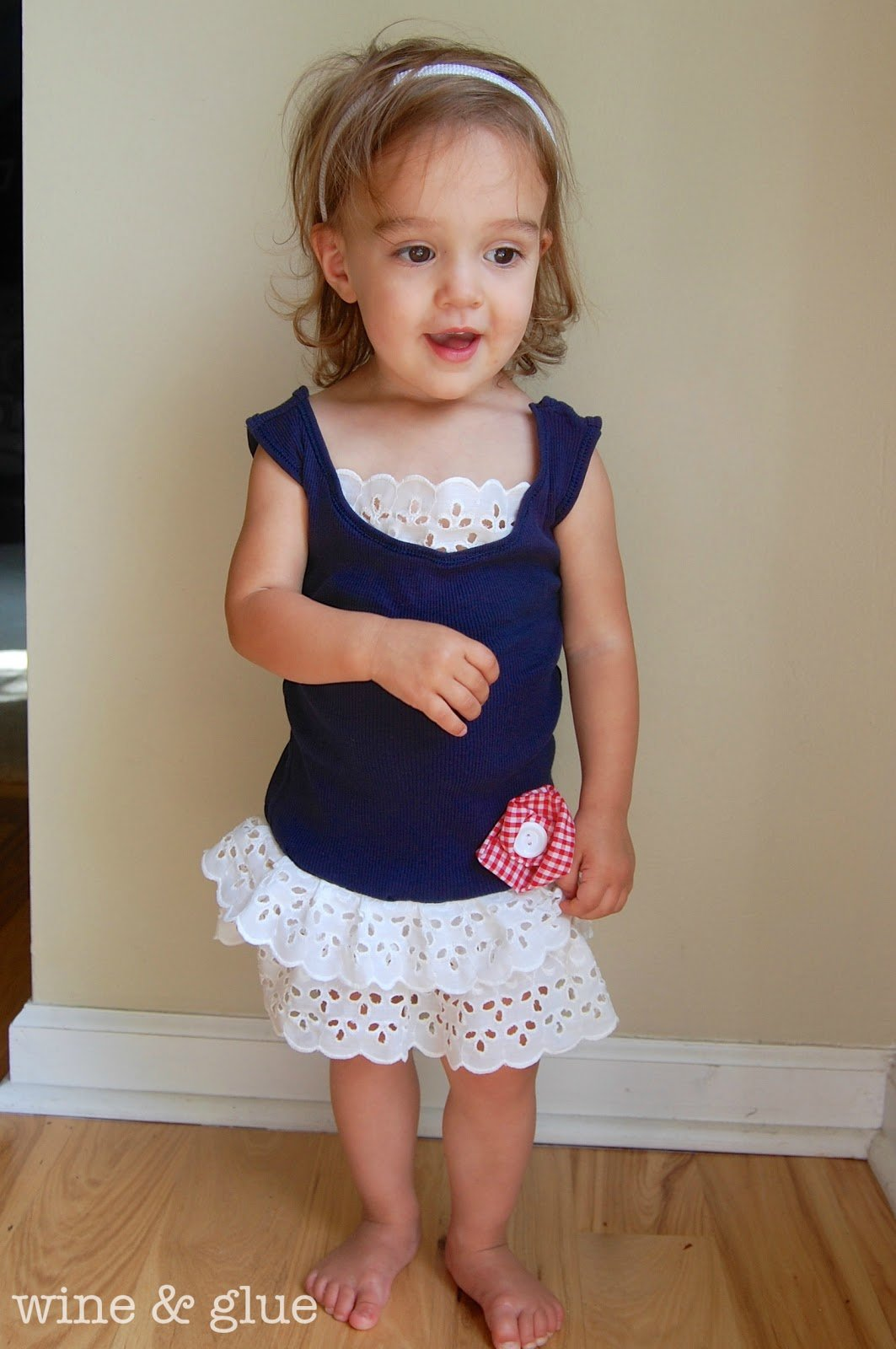 Toddler Tank Dress {Upcycled} - Wine & Glue