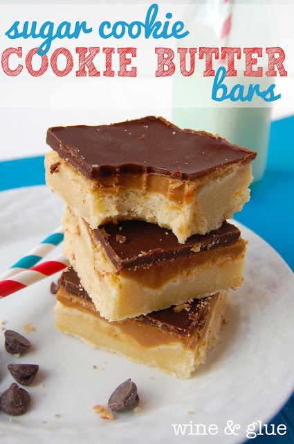 These Sugar Cookie Cookie Butter Bars are a decadent but easy dessert with the rich and wonderful tastes of cookie butter!