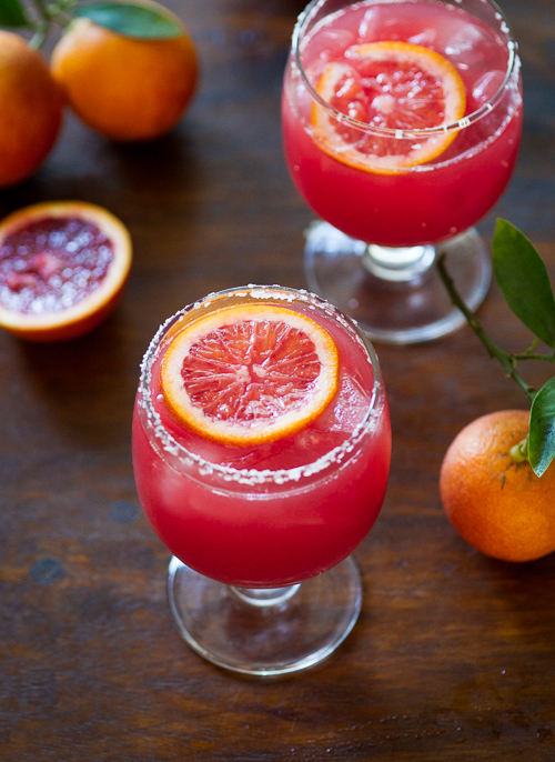 Refreshing Blood Orange Margarita Recipe from White On Rice Couple