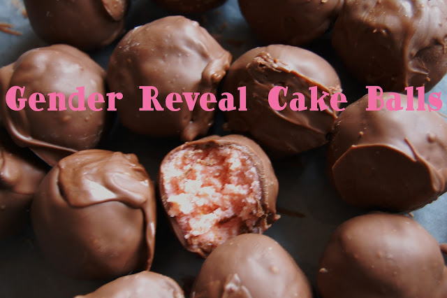 Gender Reveal Cake Balls | www.wineandglue.com | A fun (and delicious!!) way to reveal gender!