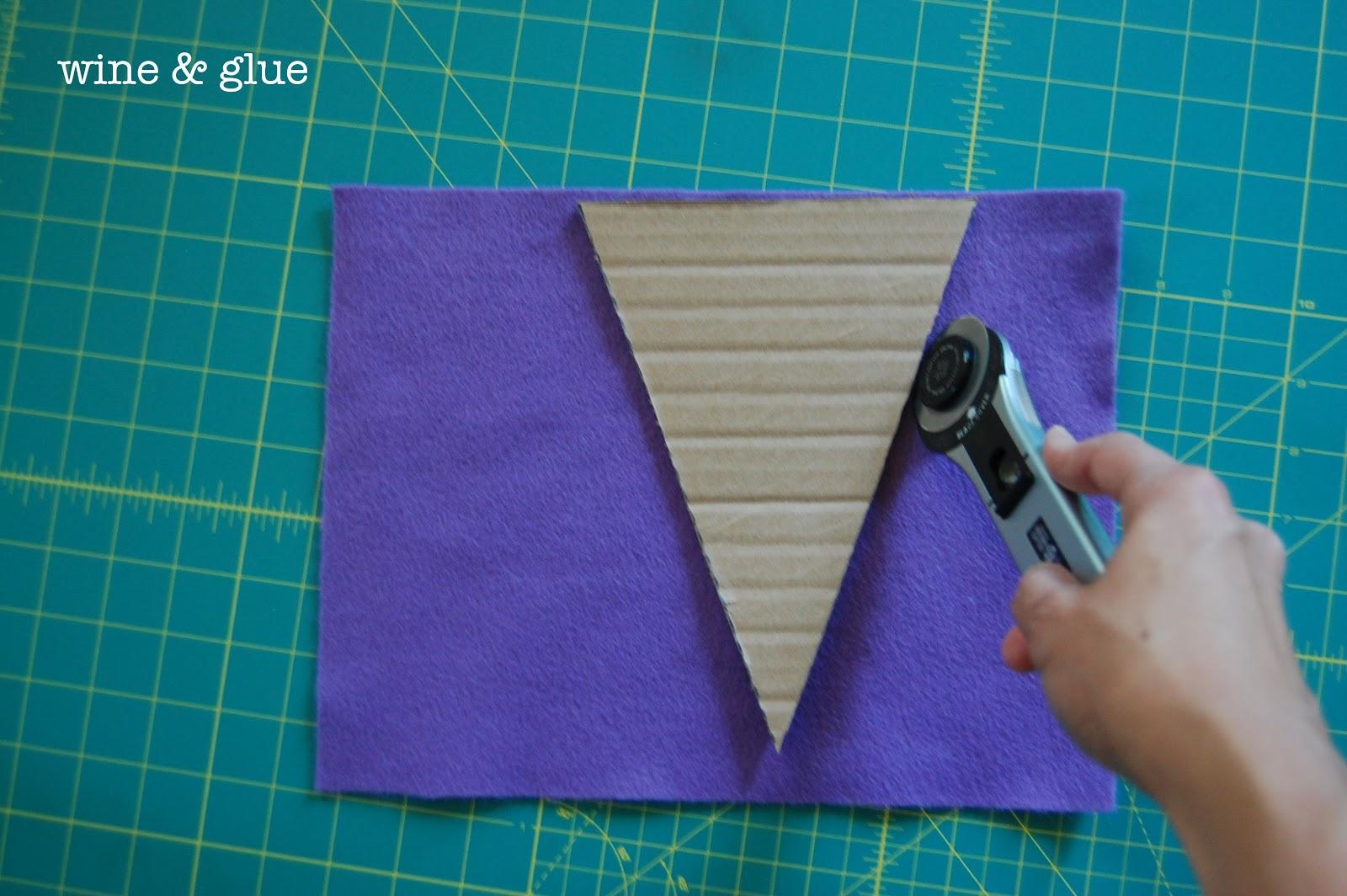 Uncategorized How To Make A Felt Banner felt pennant birthday banner wine glue i