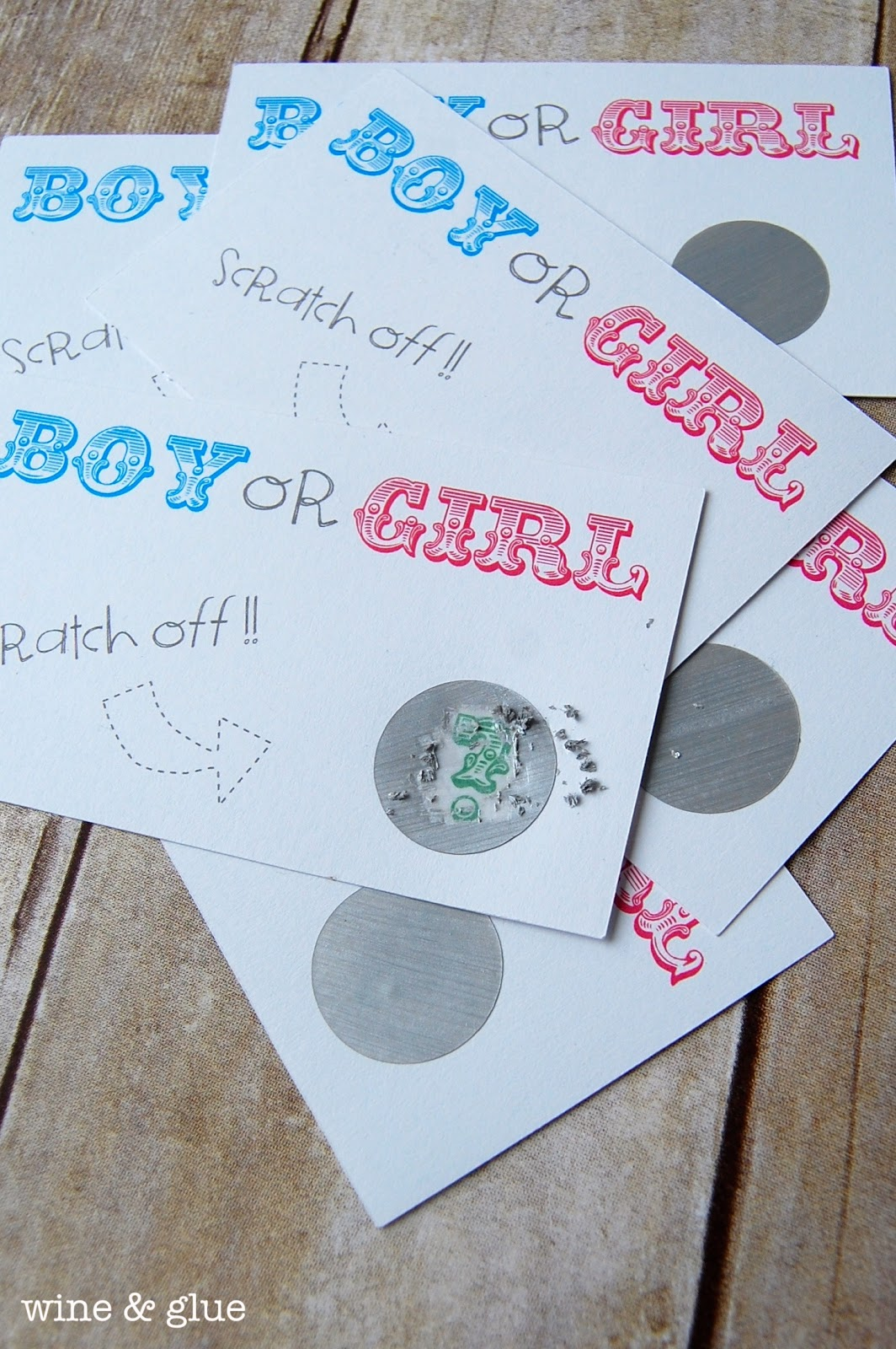 Gender Reveal Party Idea - Wine & Glue