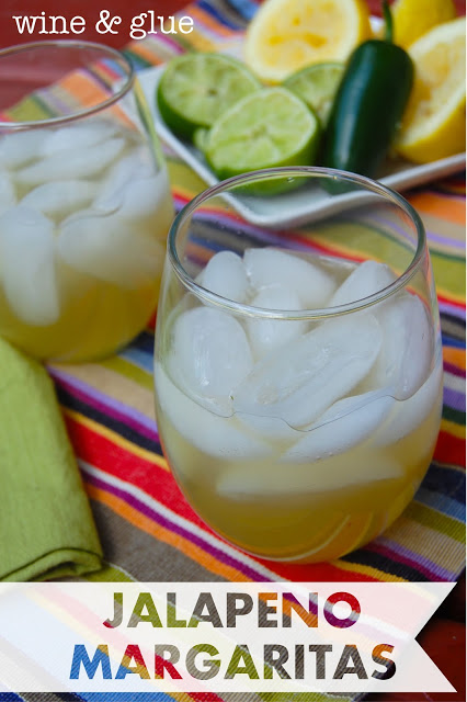 Jalapeno Margaritas that are spicy, delicious, and refreshing all at once! via www.wineandglue.com