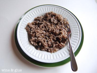 mushroom sausage risotto