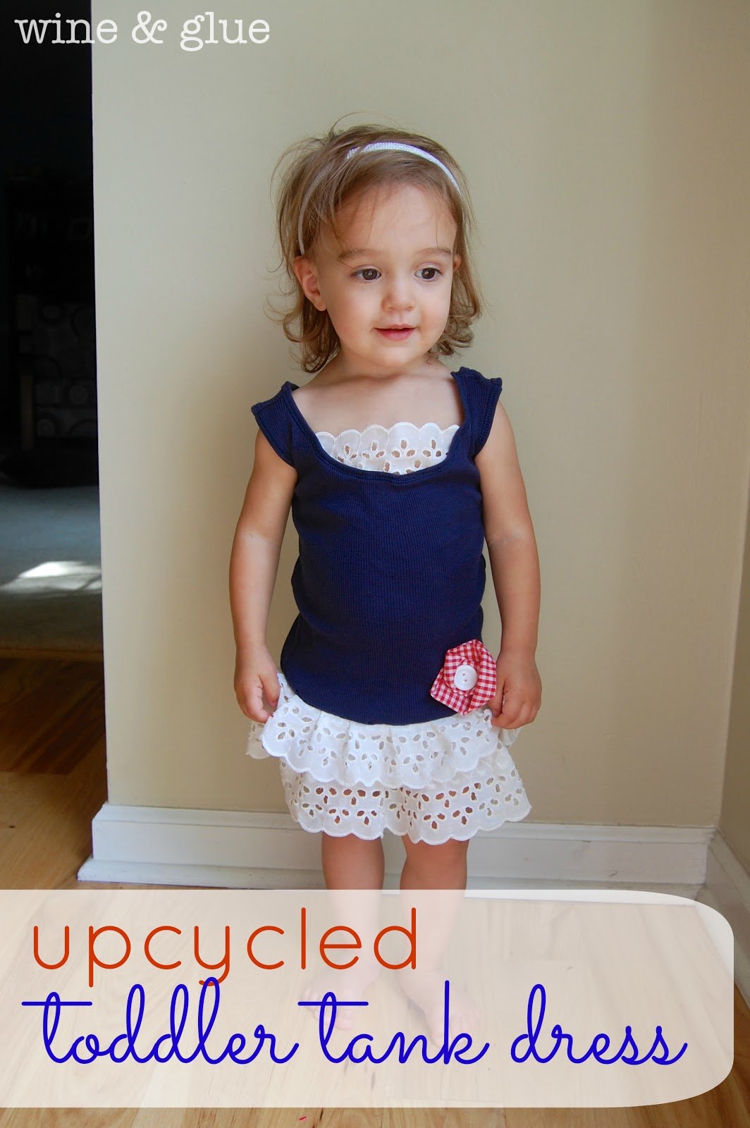 e679f0f141c Toddler Tank Dress  Upcycled  - Wine   Glue