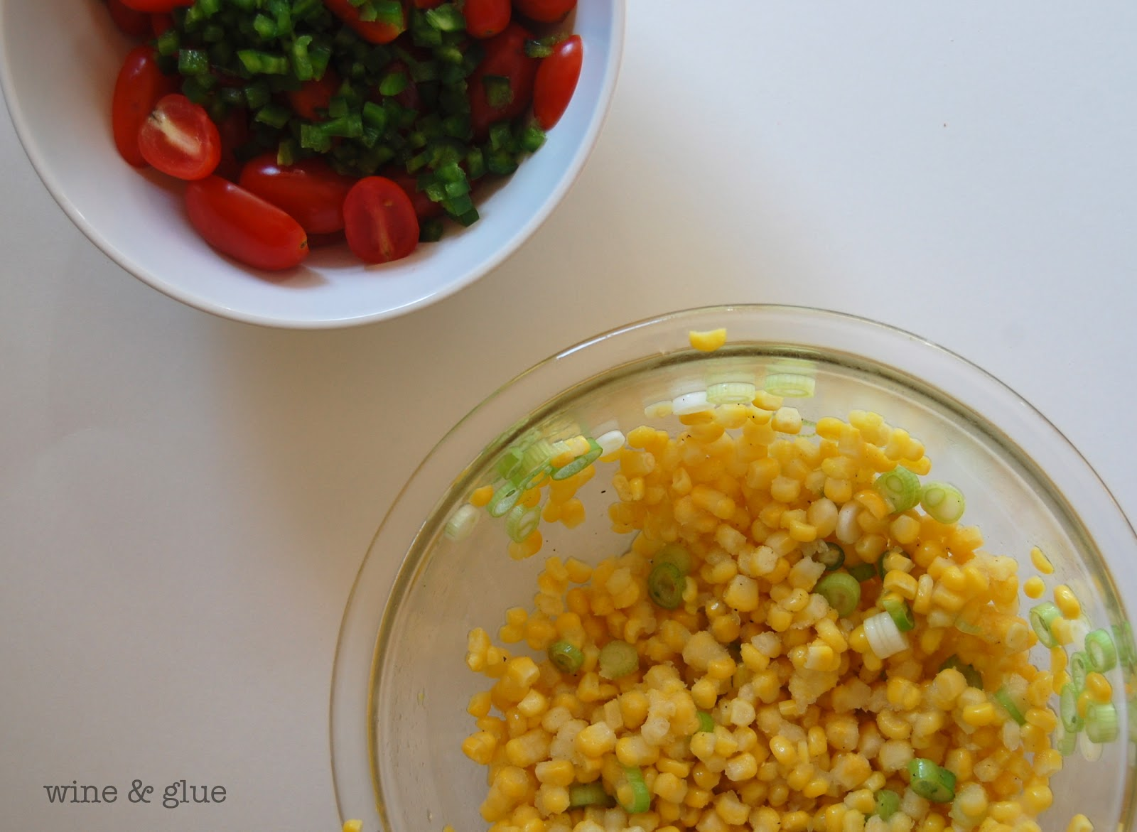 ... at Wine and Glue! {Meatless Tostadas with Corn Relish} - Wine & Glue