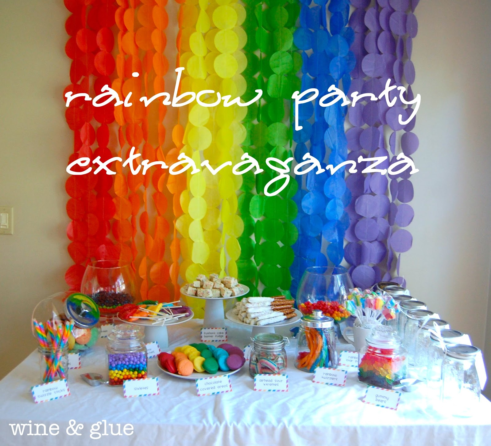 Rainbow Party Extravaganza! - Wine  for Decoration Ideas For Birthday Party At Home Kids  67qdu
