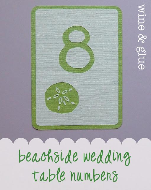 beach wedding sand dollar table number